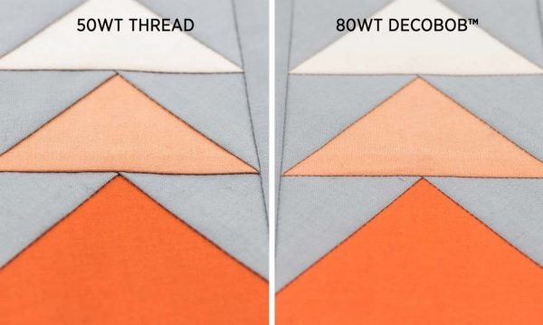 80wt thread makes a huge difference for piecing. Sew visibly flatter seams for a more professional finish.